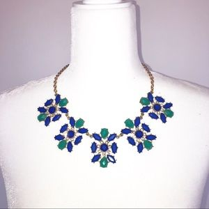 Women's Statement Necklace Blue gold